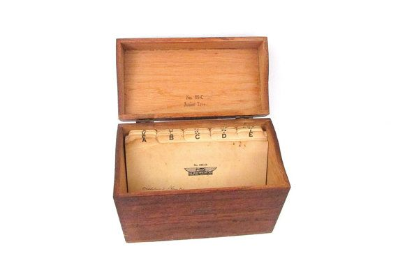 Vintage Globe Wernicke Wooden File Box No 85 by CreekLifeTreasures #vintageoffice