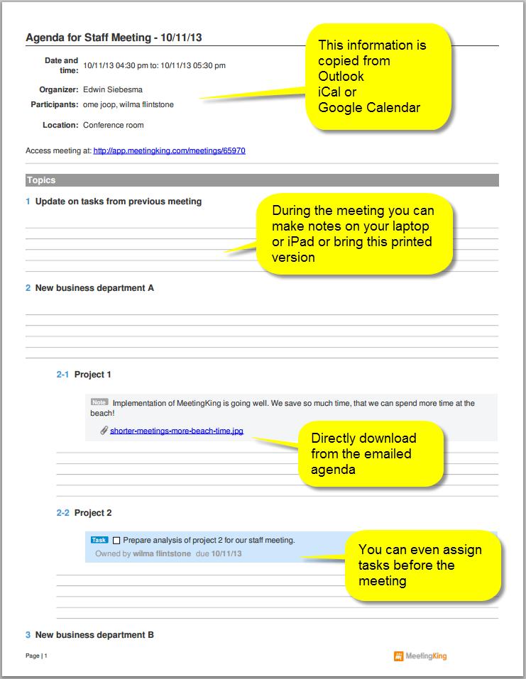 Agenda Standard Pour Runion Lean  Sequence Agenda Order