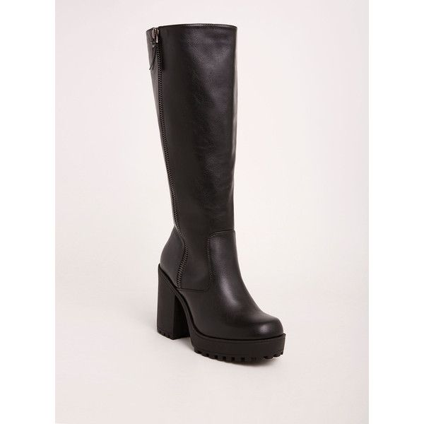 be8b0b24dea6 Torrid Wide Lug Heel Knee-High Boots - Wide Width   Wide Calf ( 77 ...
