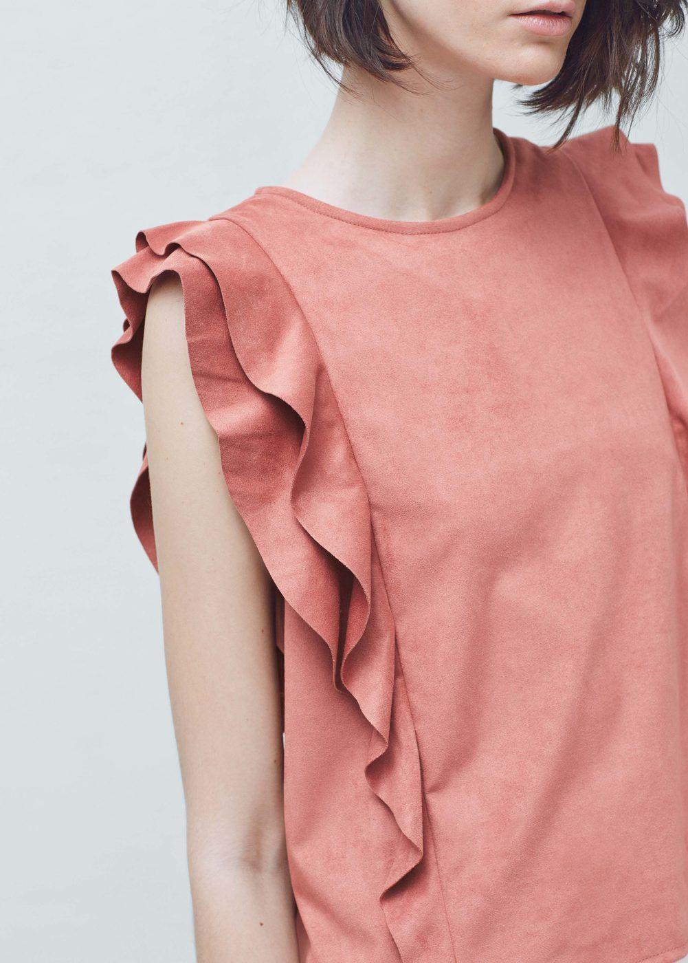 Ruffled top | MANGO For similar items, please visit http://www.fashioncraycray.xyz/
