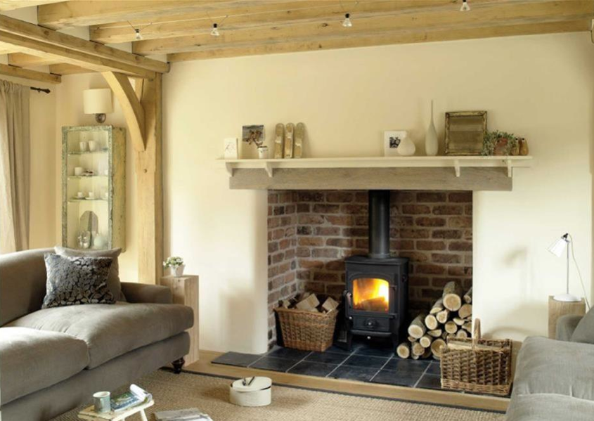 Lovely simple styling on the mantlepiece | Cosy fireplaces ...