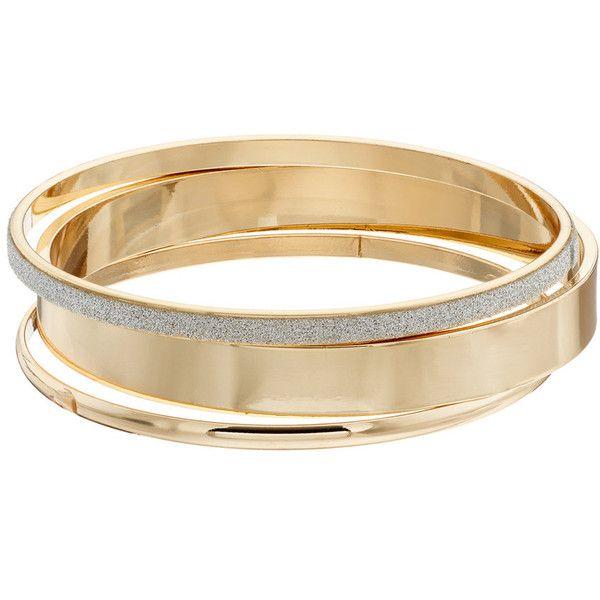 Plus Size Glittery Bangle Bracelet Set 84 Nok Liked On Polyvore Featuring Jewelry