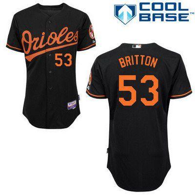 save off c56d1 96f84 Men's Baltimore Orioles #53 Zach Britton Black Jersey | MLB ...