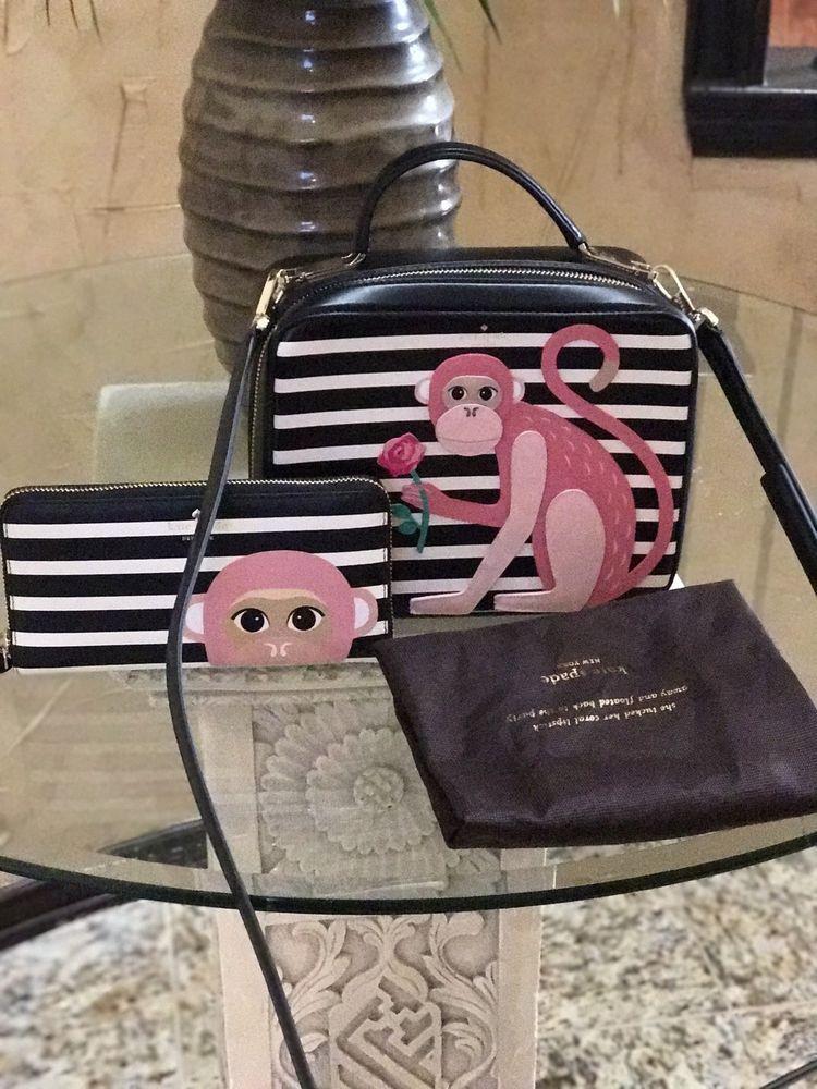 NWT Kate Spade Rambling Roses Monkey Casie  crossbody Handbag With Wallet Set | Clothing, Shoes & Accessories, Women's Handbags & Bags, Handbags & Purses | eBay!