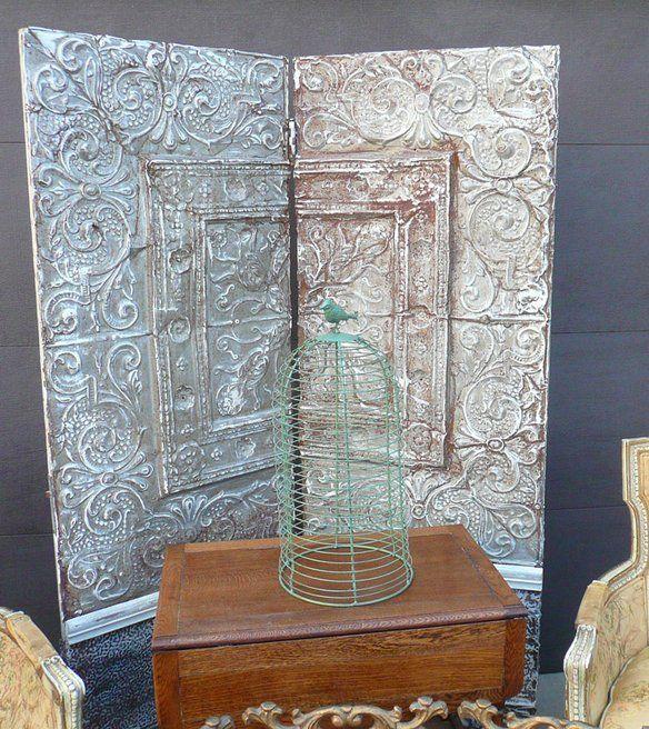 Antique Tin Ceiling Tile Screen Room Divider Tin Ceiling Tiles Antique Doors Antiques