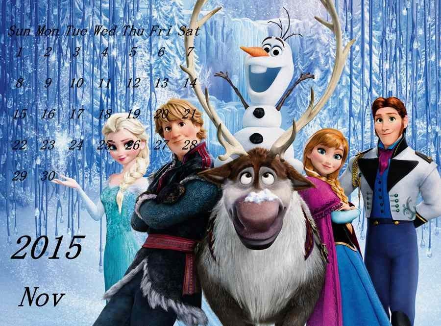 Custom  New Year Diy Frozen Printable Calendar Templates