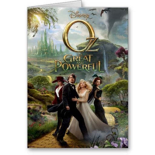 Oz The Great And Powerful Poster 6 Card Zazzle Com Good