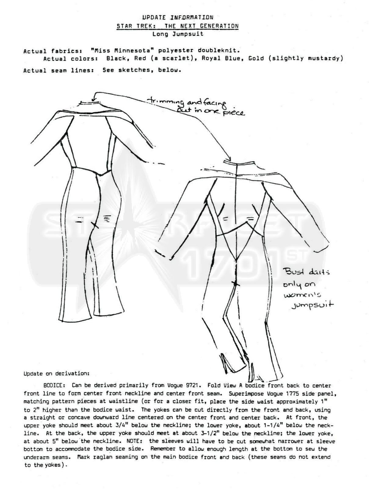 TNG Uniform Info in TNG (The Next Generation) Forum - Shoulder yoke ...