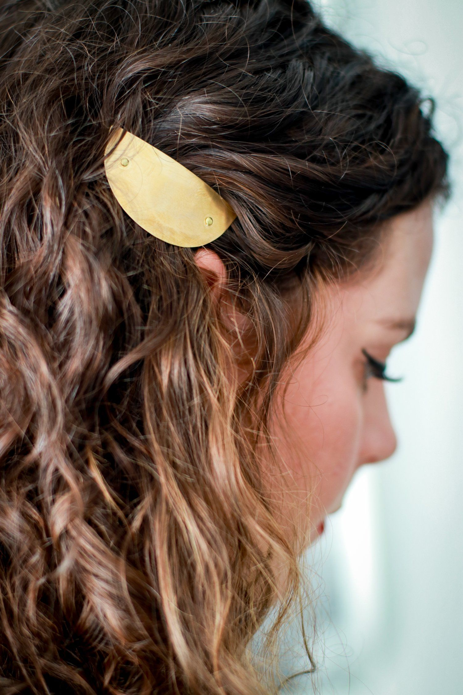 Shield Barrette Curly Hair Styles Hair Accessories Beauty