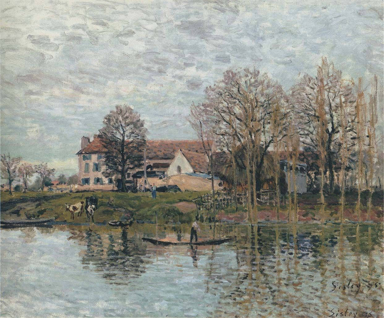 Alfred Sisley and His Paintings | Banks of the Seine at Port Marly