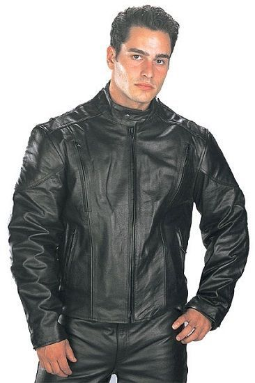 ac44fc84807 Xelement B7201 Premium Soft Touch Cowhide Leather Motorcycle Jacket   Xelement  Motorcycle