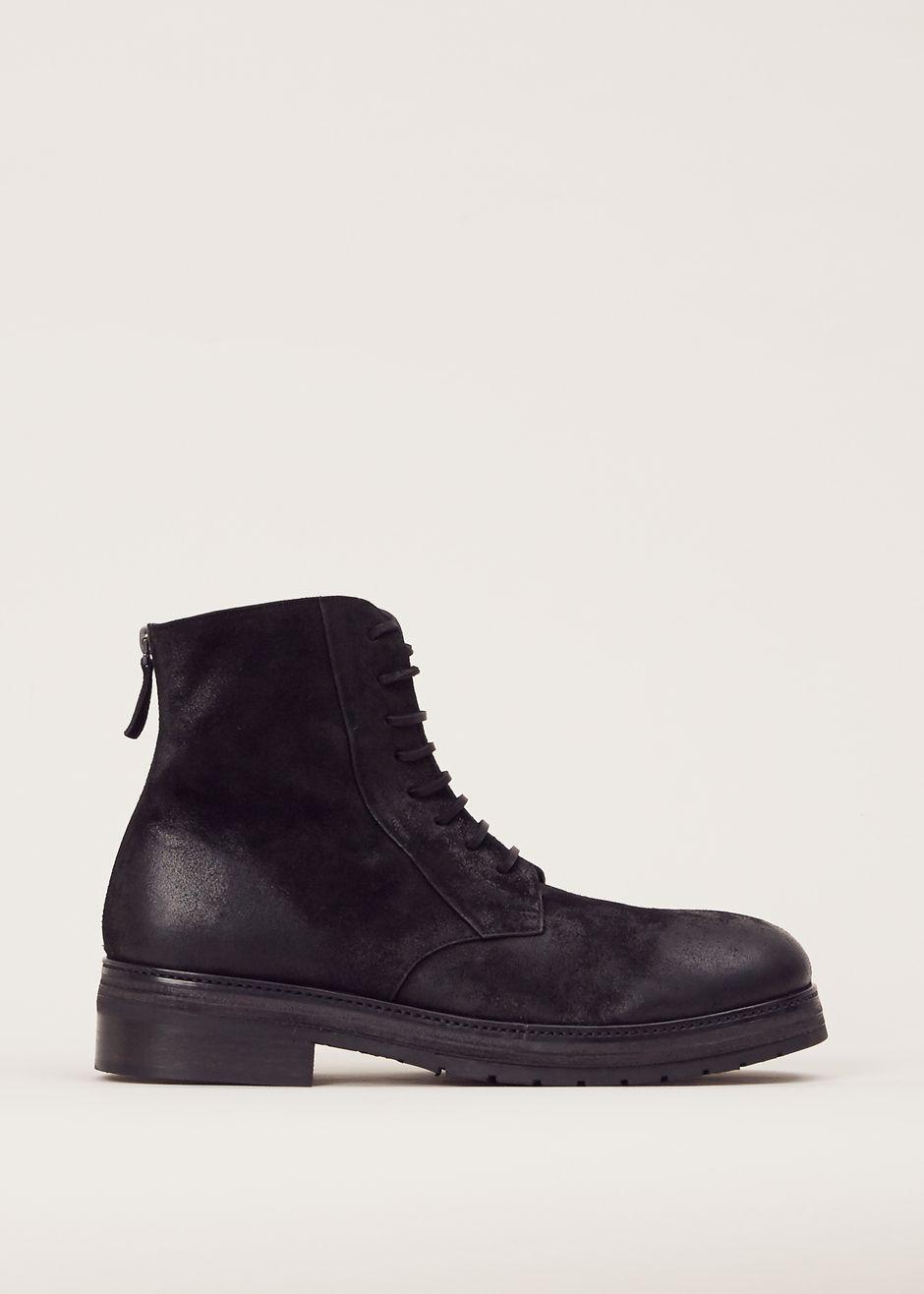 Marsell Zucchino Lace Up Boot (Black)