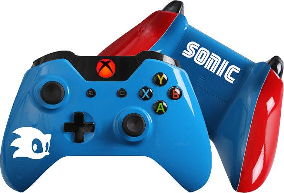 Sonic Inspired Custom Xbox One Controller Sonic Hedgehog Customcontroller Xboxone Nintendo Retro Throwba Custom Xbox One Controller Custom Xbox Xbox One