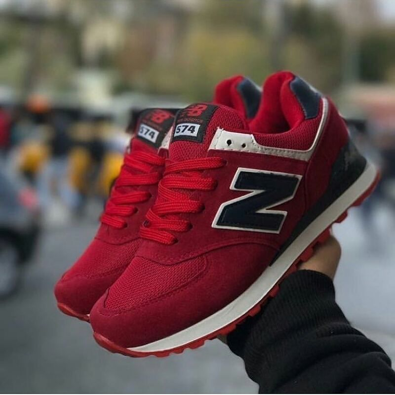 new balance 574 kırmızı