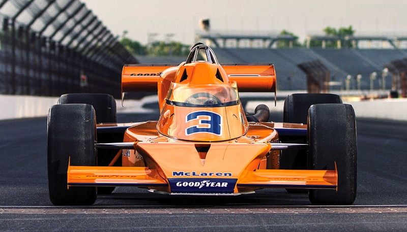 Johnny Rutherford 1974 M16D Classic racing cars, Indy