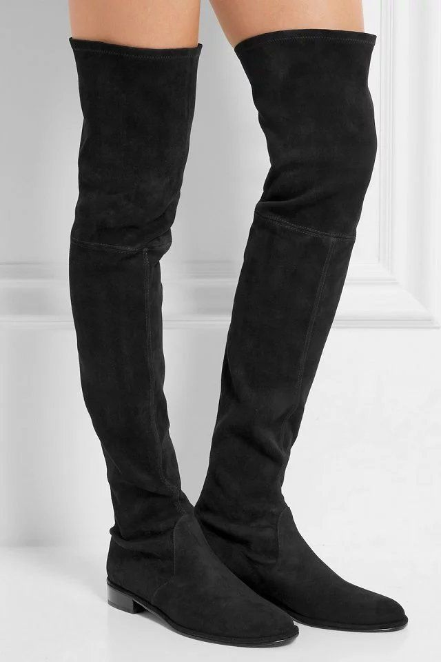 flat thigh high boots brand black fashion in http www