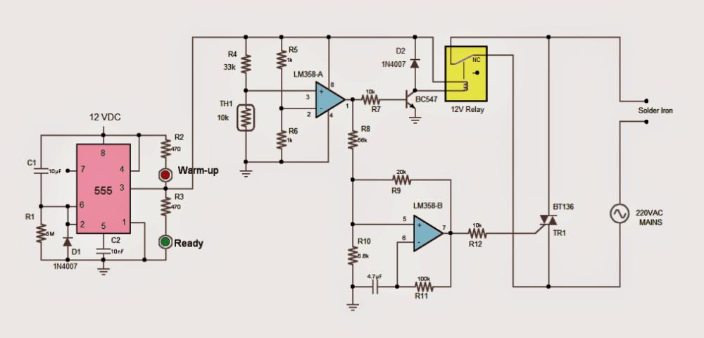 2 Useful Energy Saver Solder Iron Station Circuits