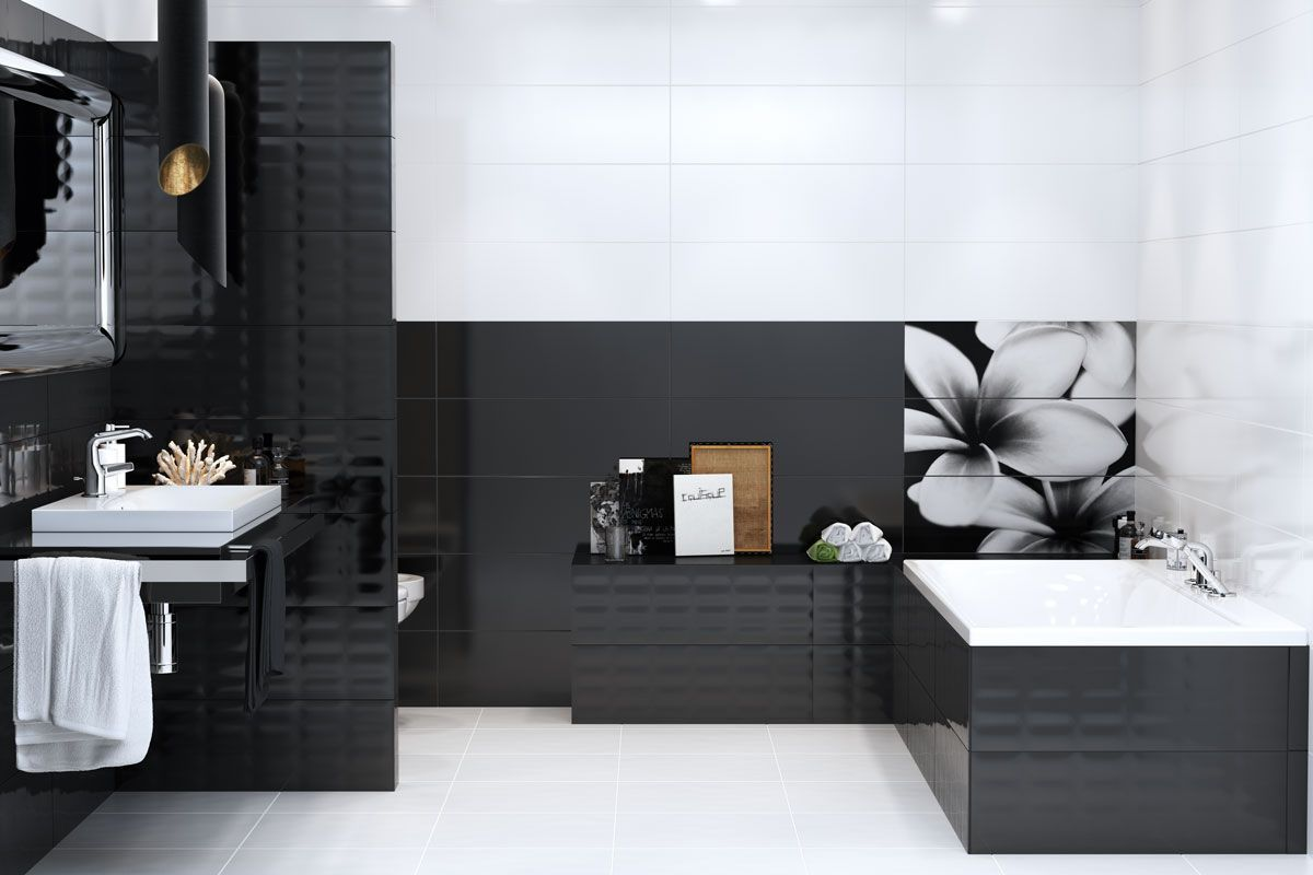 moderne badezimmer schwarz weiß   Bad   Badezimmer schwarz ...
