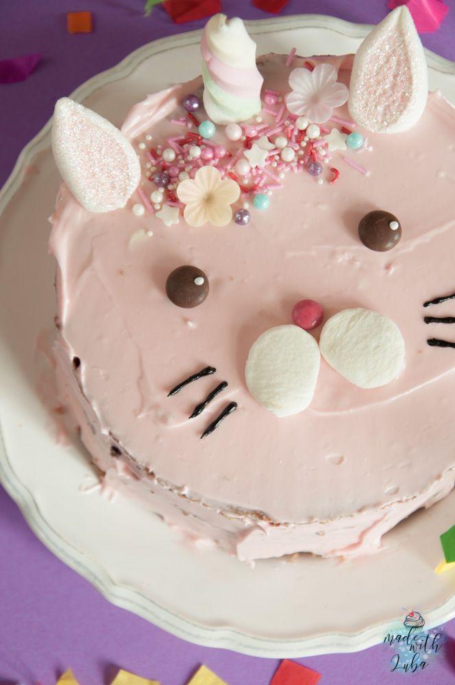 Caticorn Kuchen - Die magische Katze erobert alle Herzen