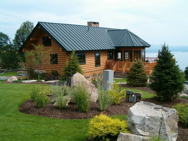 Best Standing Seam Metal Roofing On Log Cabin From Englert 400 x 300