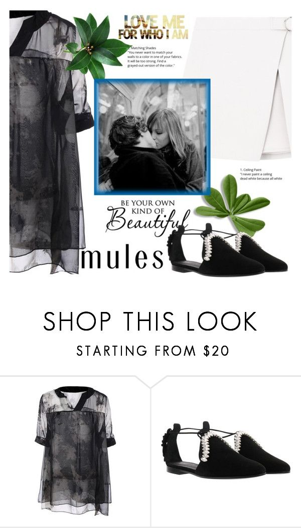 """""""mules_love**#""""''"""" by bluealmonds-dk ❤ liked on Polyvore featuring Giuseppe Zanotti and mules"""