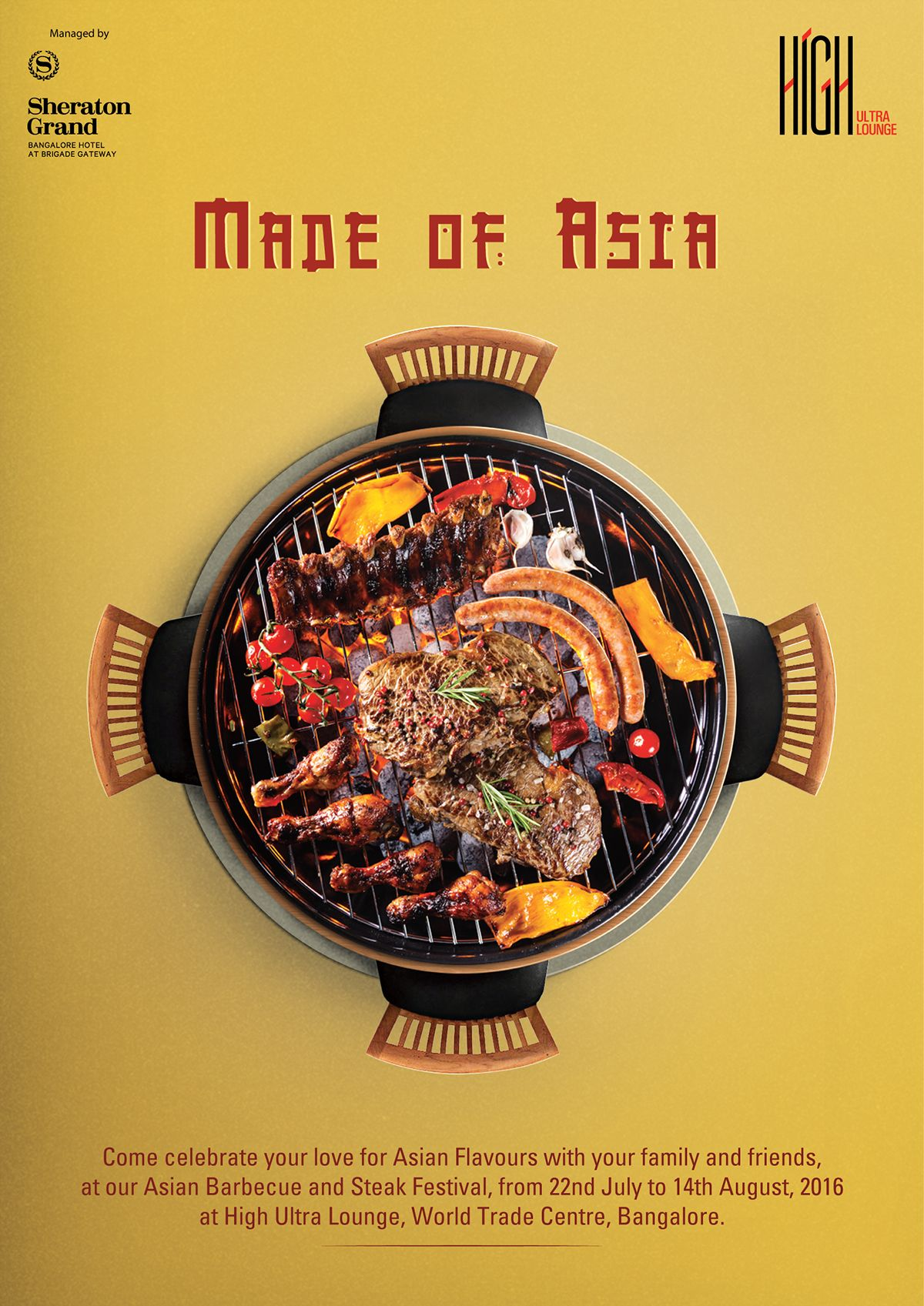 Poster Cuisine Asian Barbecue Poster Design On Behance Restaurant Menu And