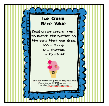 Classroom Freebies: Ice Cream Place Value