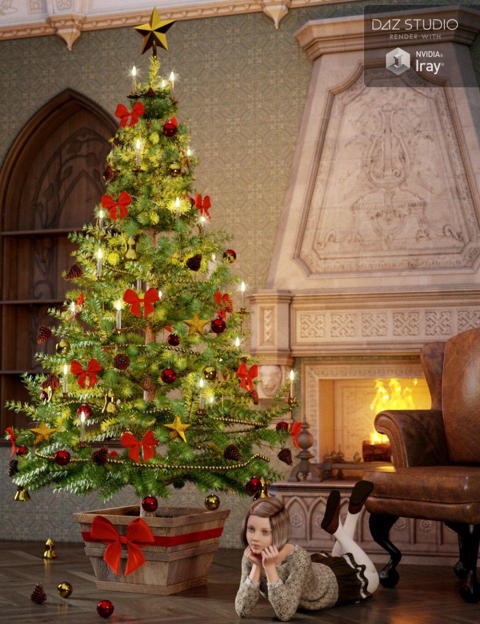 Victorian christmas tree daz poser pinterest