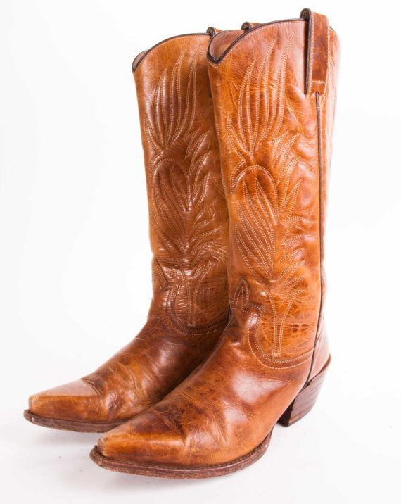 c902caa6560 Tall STEVE MADDEN Cowboy Boots Women s by MetropolisNYCVintage