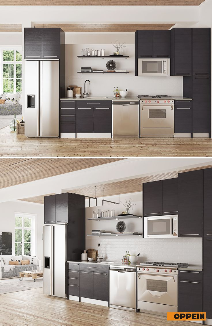 Modern Grey Matte Melamine Kitchen Cabinet Kitchen Design Kitchen Kitchen Cabinets