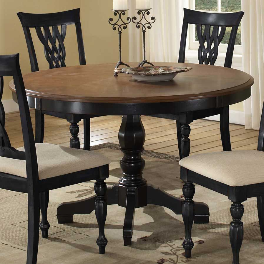 Hillsdale Embassy Round Pedestal Table With Wood Top 4808 812 13 Round Pedestal Dining Table Pedestal Dining Table Round Pedestal Dining