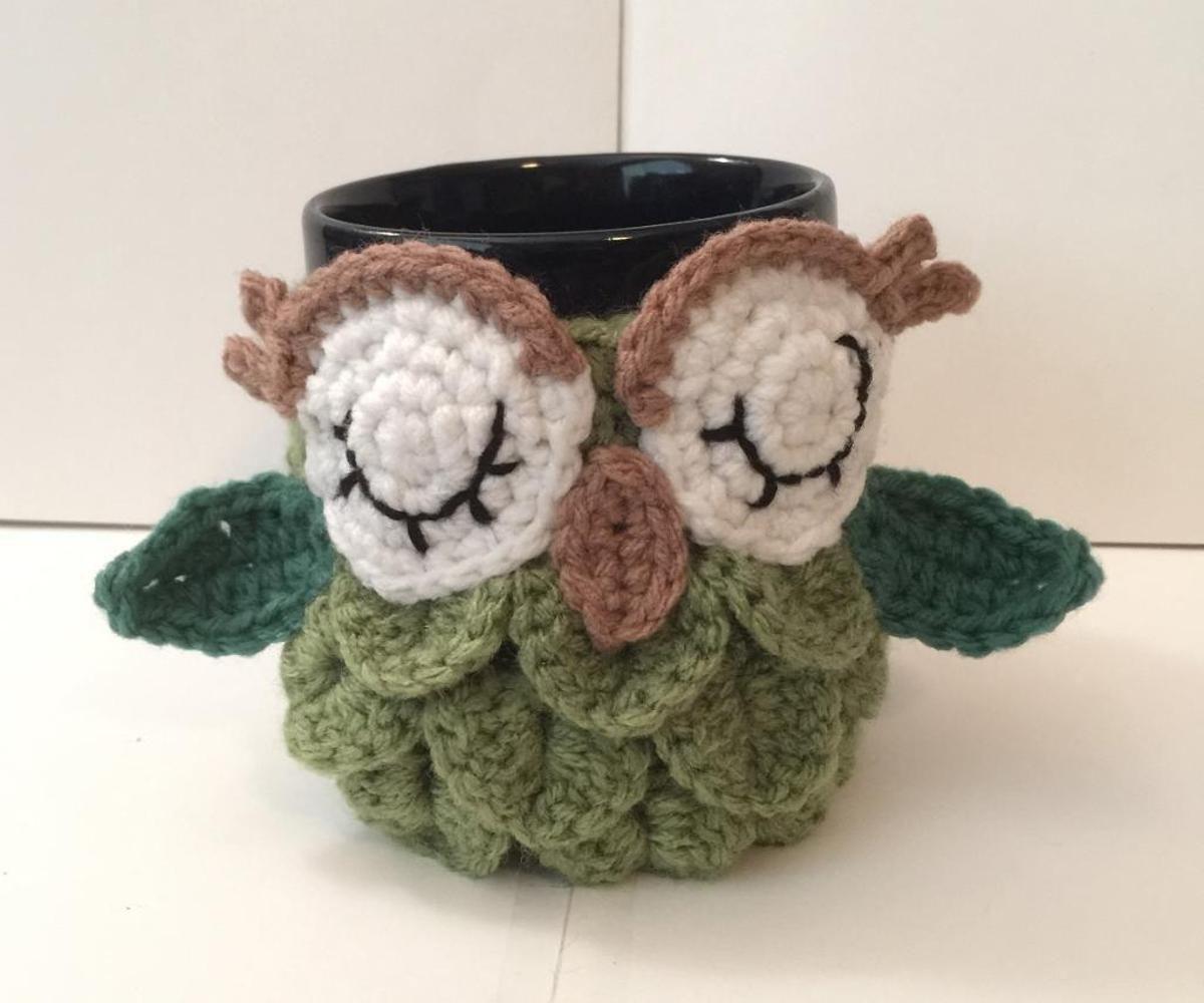 Owl Coffee/Tea Mug Cozy | Craftsy | Crochet pattern | Pinterest ...
