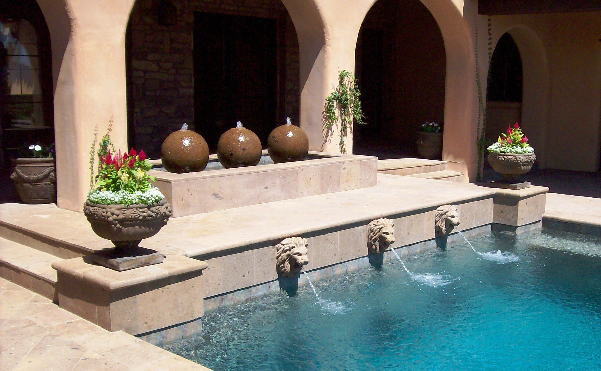 Swimming Pool Fountain Heads | Outdoor Fountains | Swimming ...