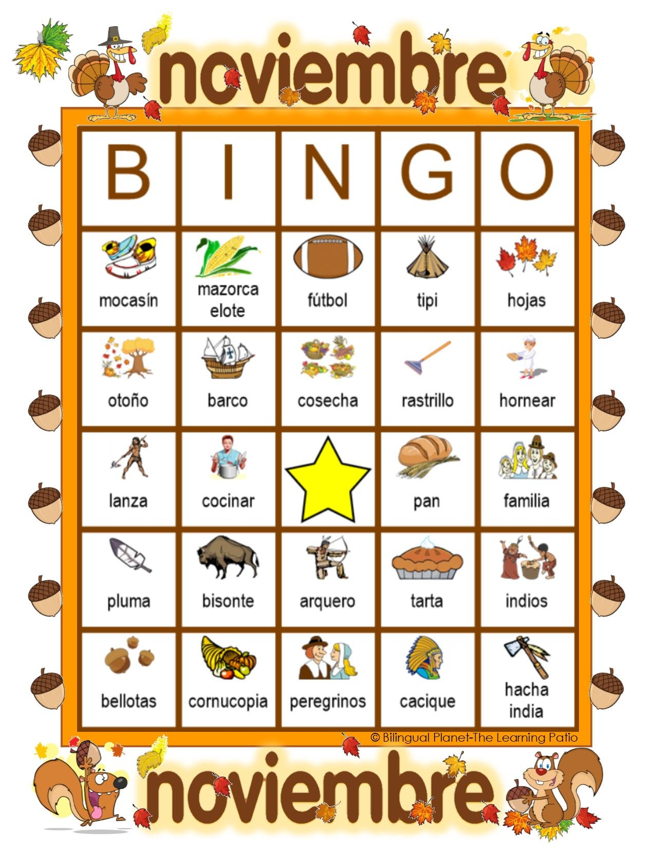 Get BINGO Vocabulary Card Games For The Months Of The Year