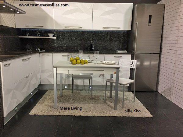 Mesa cocina extensible esquinas redondeadas Living -F | Pinterest ...