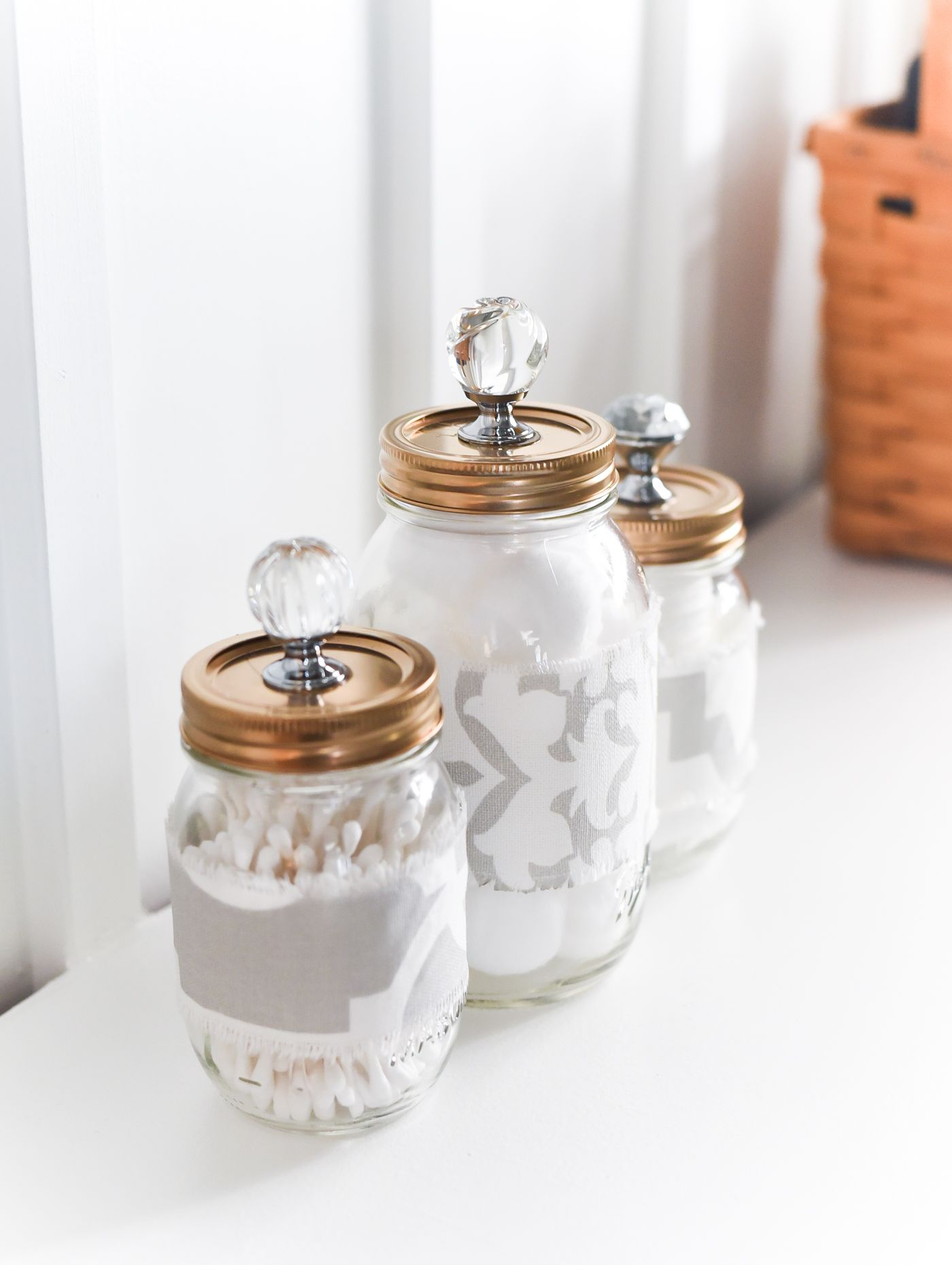 Mason Jar Cozies Bathroom Storage It All Started With Paint
