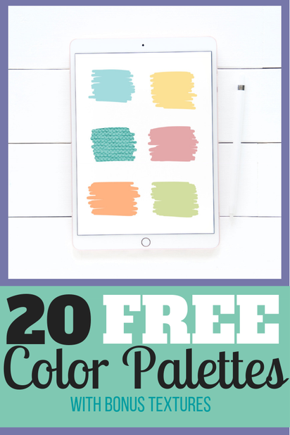 20 FREE COLOR PALETTES FOR PROCREATE WITH MATCHING TEXTURES