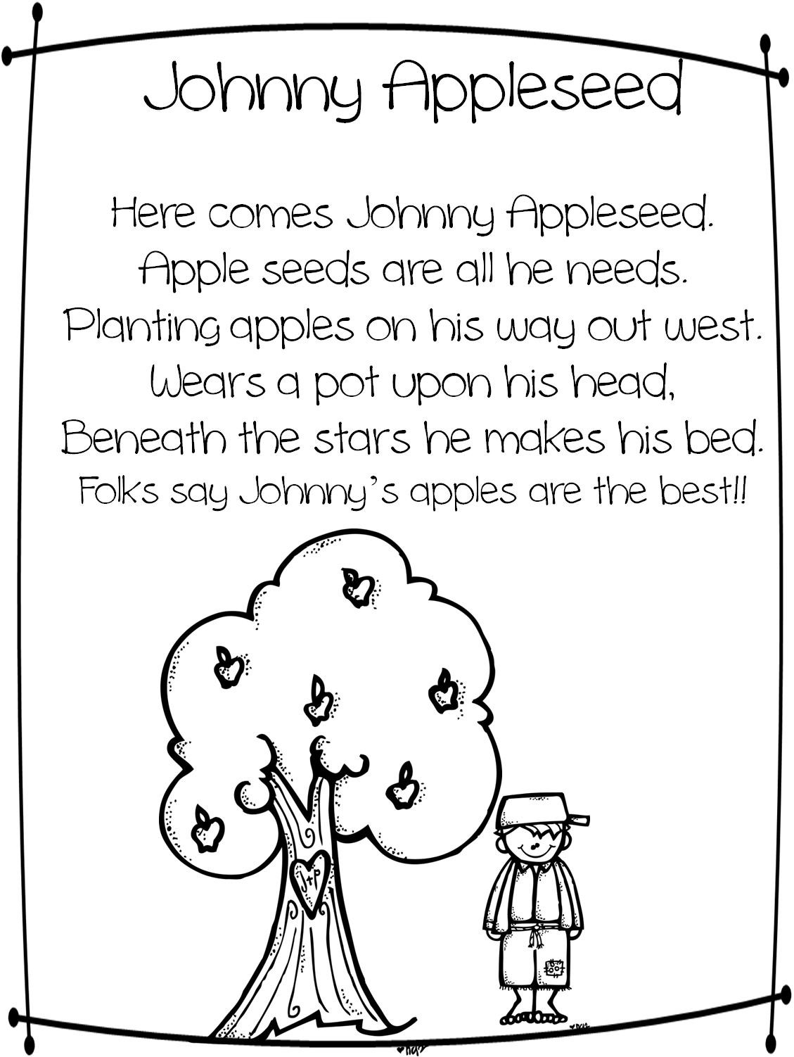 Coloring activities for 1st grade - First Grade Wow Johnny Appleseed Good Citizenship