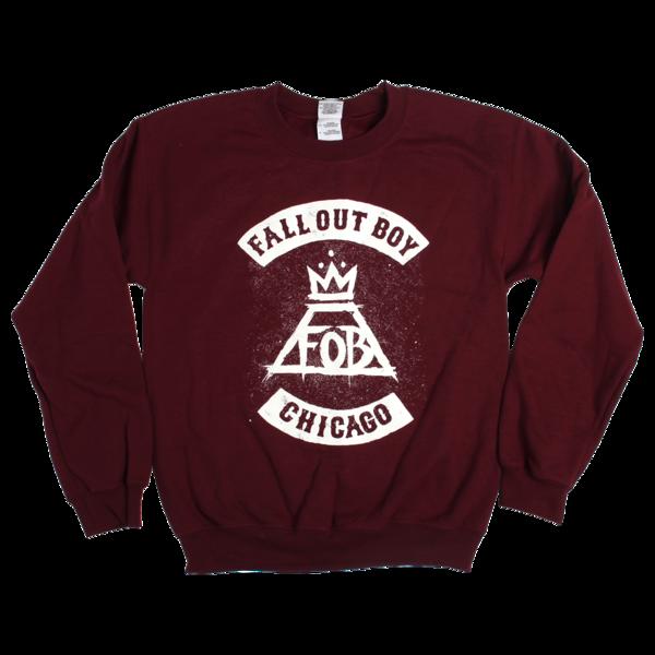 Maroon Chicago City Crewneck Boys Sweatshirts Sweatshirts Sweatshirt Designs