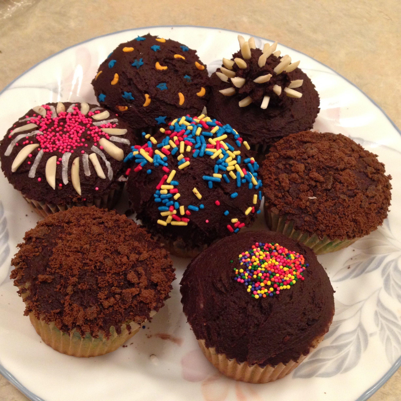 Chocolate cupcake recipe from allrecipes.com + random ...