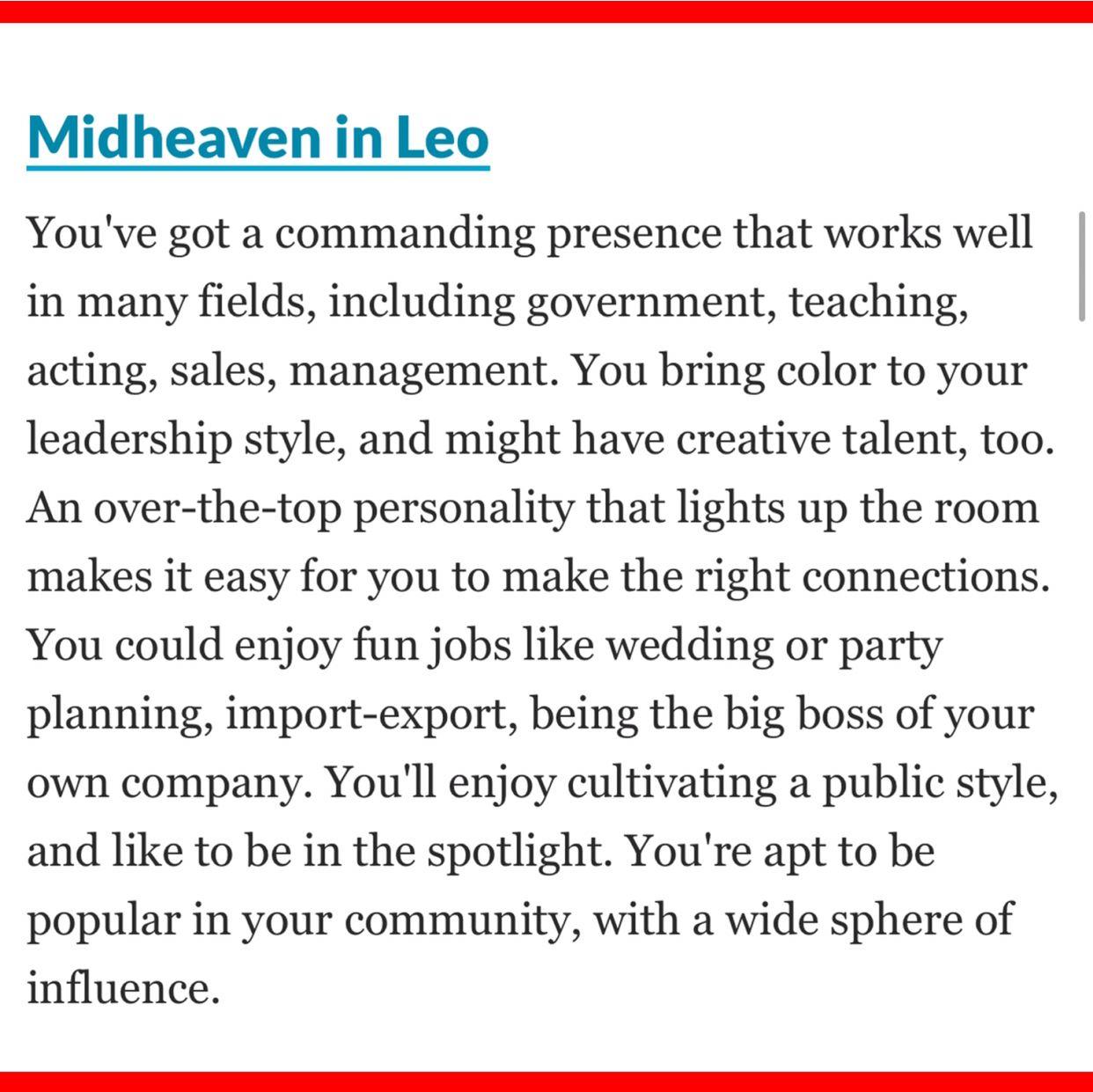 Midheaven in Leo- Leo in the 10th house | Spiritual