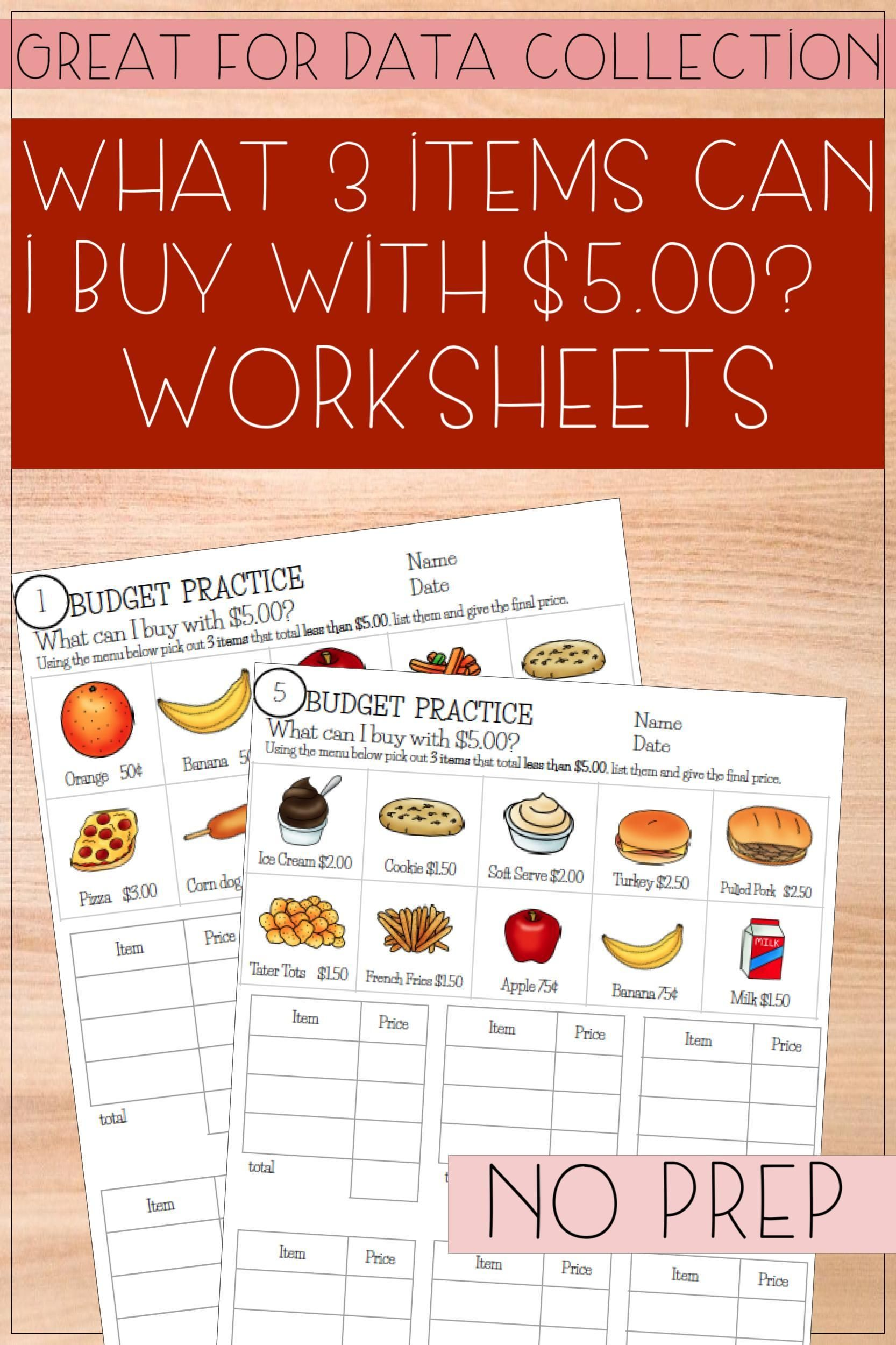 Budget Up To 5 Math Worksheets In 2020 Math Worksheets Life Skills Classroom Worksheets [ 2500 x 1666 Pixel ]