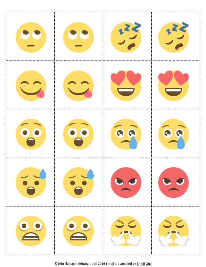 Adorable image with regard to printable emojis pdf