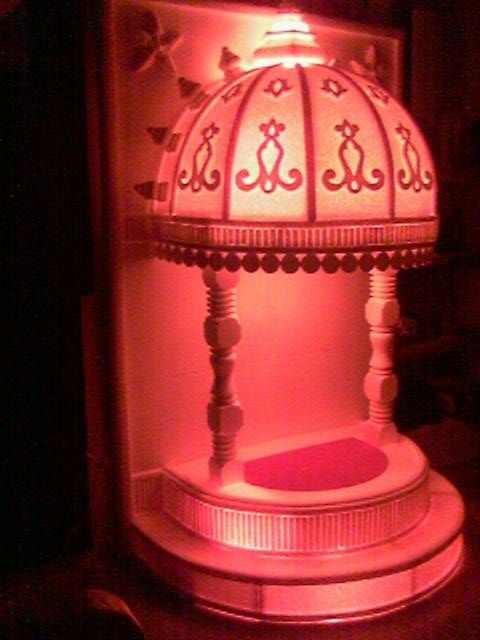 Chatri With Thermocol Ganapati Decoration Ganpati At Home