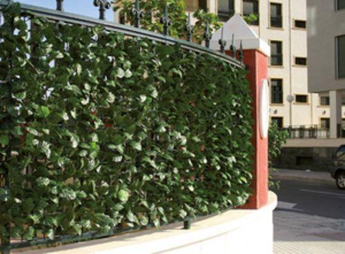 Finta Siepe In Plastica.Dettagli Su Siepe Recinzione Foglia Finta Verde Per Balcone E
