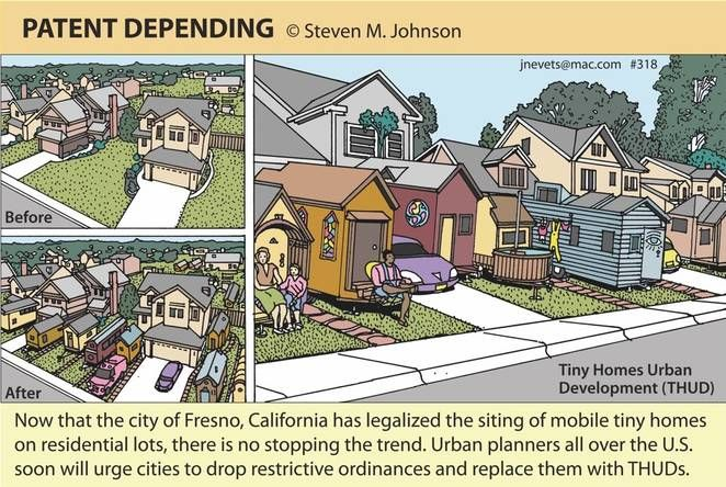 A large city in California now legalizes the tiny house and Austin is left in the dark ages of RIGID and COSTLY code requirements by continuing to ban tiny houses.