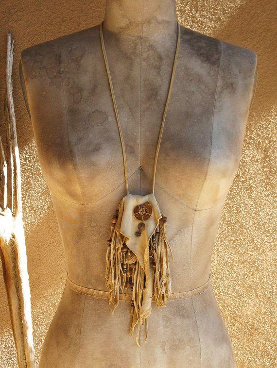 Natural Tan Deer Hide Fringed Medicine Bag or by deserttalismans, $197.00