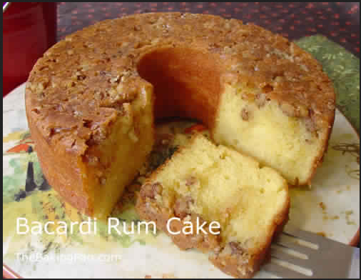 Golden Rum Cake ~ cook this meals