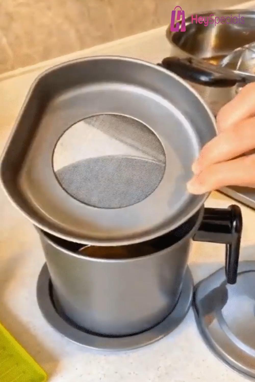 Stainless Steel Oil Filter Pot 😍