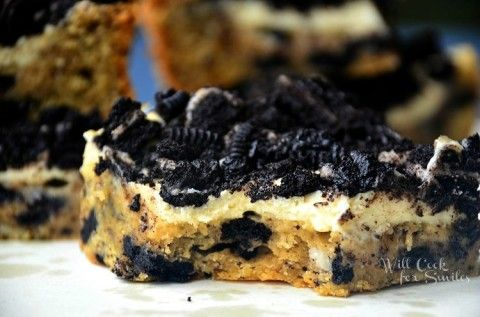 Oreo-Cheesecake-Cookie-Bars <3